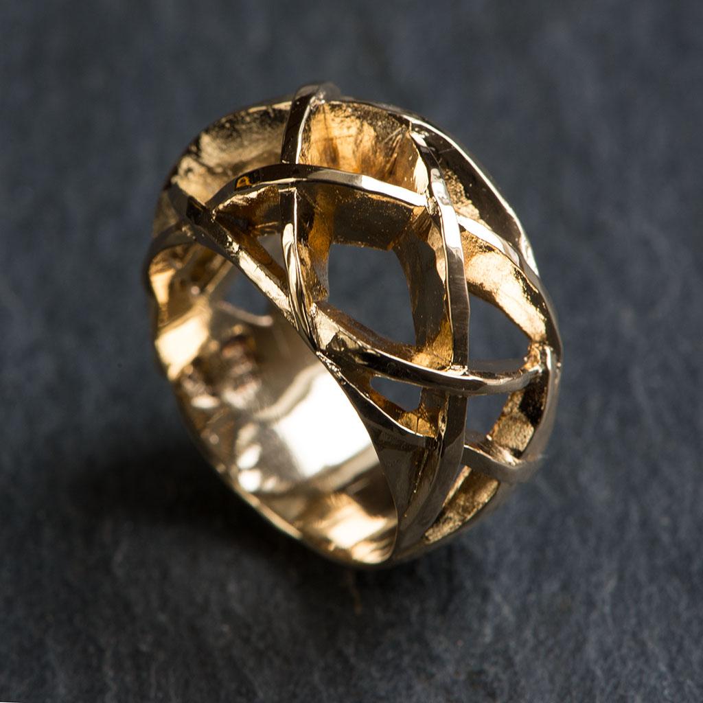 Ørkenrose ring II guld
