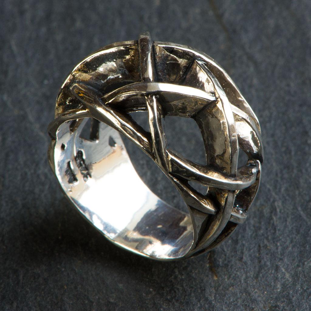 Ørkenrose ring II sølv