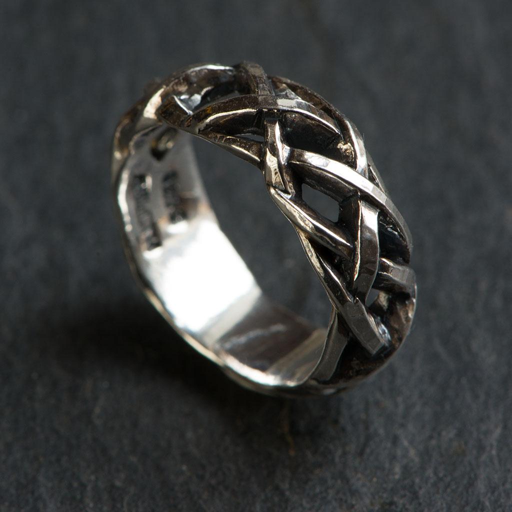 Ørkenrose ring IV sølv